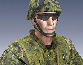 3D model Canadian Infantry Soldier