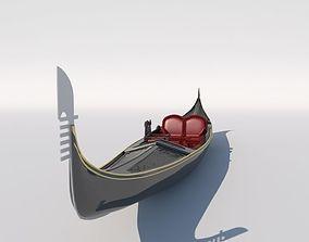 vehicle Venetian gondola 3D model