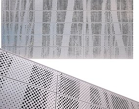 3D model perforated metal panel N19