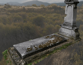 3D model Scanned Tombstone
