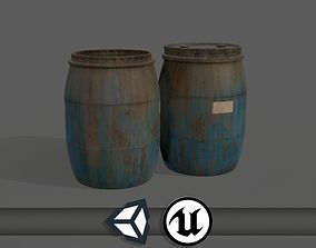 3D asset Old Water Barrels - PBR and Game Ready