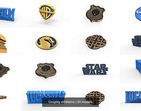 Cosplay emblems 3D model