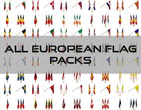3D All European Flag Packs
