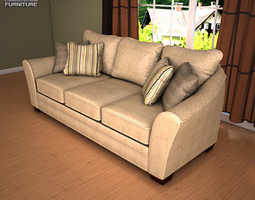 Ashley Lena Putty Sofa 3D model