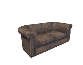 3D asset house sofa