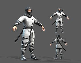 3D model low-poly Ninja