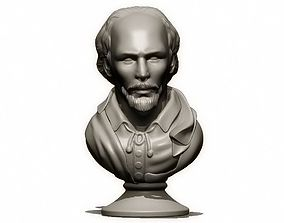 3D printable model W Shakespeare Bust