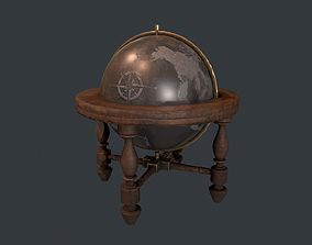 3D model Globe - Vintage Globe - Pirate Prop - Ship