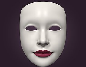 3D model Theater Woman Mask with Neutral Face
