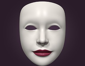 3D model Theater Woman Mask with Neutral Face Expressions
