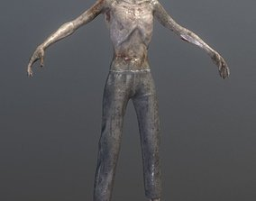3D model Rigged Skinny Zombie
