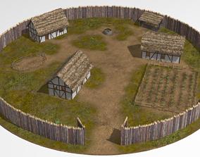 wooden fort 3D model