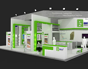 Exhibition Stand - ST0045 3D model pop-up