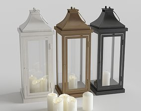 3D Outdoor Floor Lanterns with Candles