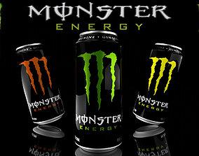 3D model Monster Energy Drink High Detail