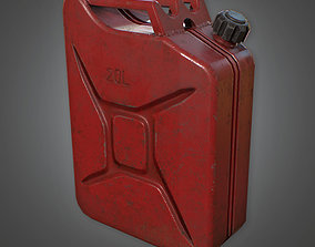 CAM - Gasoline Jerry Can Camping - PBR Game 3D asset