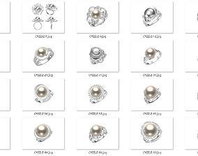 20 Pearl Rings 3D print model-Batch 1 brilliant