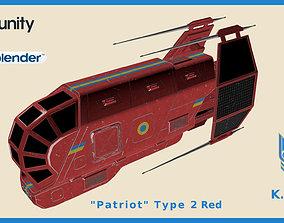 3D model Spaceship Patriot Type 2 Red