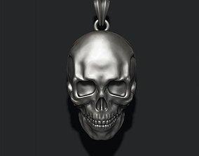 skull pendant 3D printable model woman