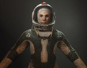 Cosmonaut 3D asset