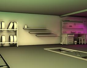 Garage roof 3D model realtime