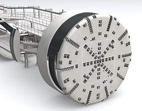 Tunnel Boring Machine TBM 3D