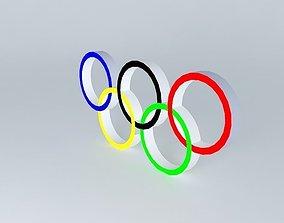3D olympic rings