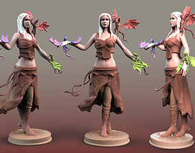 Daenerys Targaryen with dragons 3D print model Game of 1