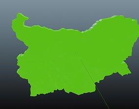 Bulgaria map symbol 3D asset