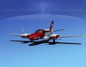 3D model Cessna 404 Titan Coast Guard