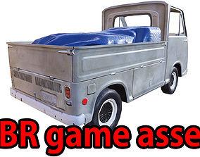 3D model PBR Old Minitruck Lowpoly