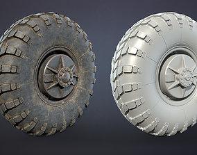 Truck Wheel 04 BRDM 3D asset