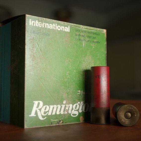 3D Shotgun Shell 12 gauge and box of shells
