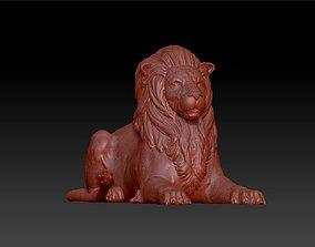 3D print model lion siting statue