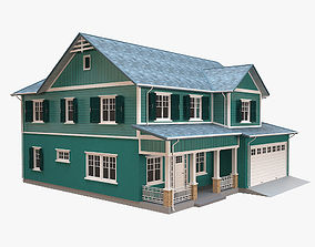 3D asset Traditional House 15
