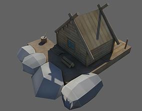 Wooden House 3D asset realtime