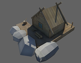 Wooden House 3D asset realtime