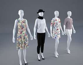 Mannequin Woman Cloth Model For Shop 3D