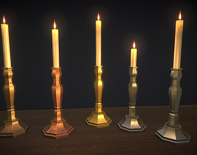 3D asset Life Candles Pack
