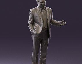 Man in light blue suit 0745 3D Print Ready cjp