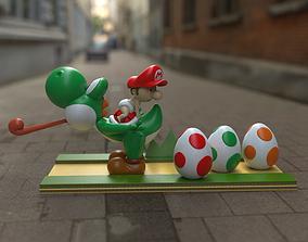 chibi Baby Mario and Yoshi 3D print model