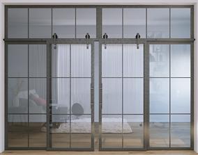 3D model Glass partition doors