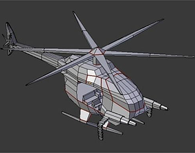 3D model Low Poly Helicopter