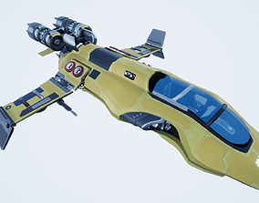 3D asset Detailed sci-fi spaceship