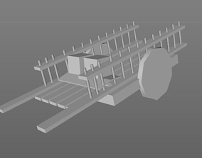 Low Poly - Supply Cart 3D