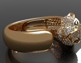 Cartier panther ring for 3d printing diamondring