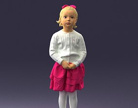 Little girl in pink skirt 0166 3D Print Ready