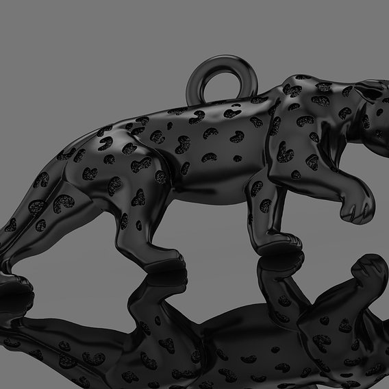 Jaguar panther 3d pendant