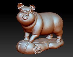 3D sculpture of pig