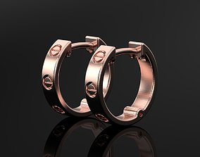 Love hoop earring 3d print model